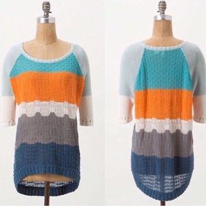 Anthropologie Moth Topographic Knit Pullover